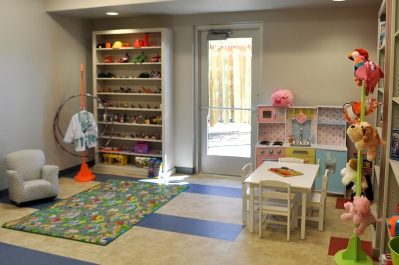A therapeutic play room inside the Harvey E. Najim Hope Center. Photo by Iris Dimmick.