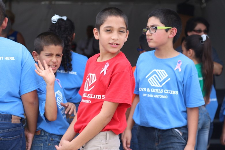 Members of the Boys & Girls Clubs of San Antonio took off school to attend the event. Photo by Joan Vinson.