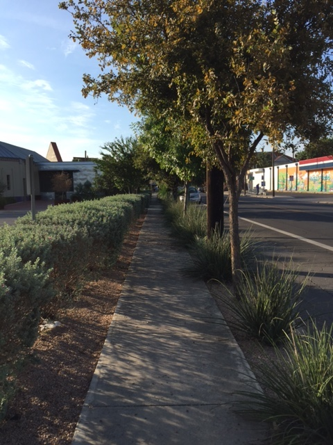 The pleasant walk down South Presa Street in front of Bliss. Its location was an empty and rundown lot for years before the restaurant opened in 2012. Photo by  Kristi R. Johnson.
