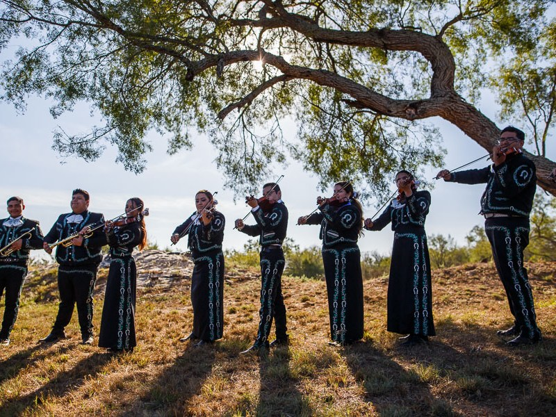 The Southwest Highschool Mariachi performs at the opening of the ceremony. Photo by Scott Ball.
