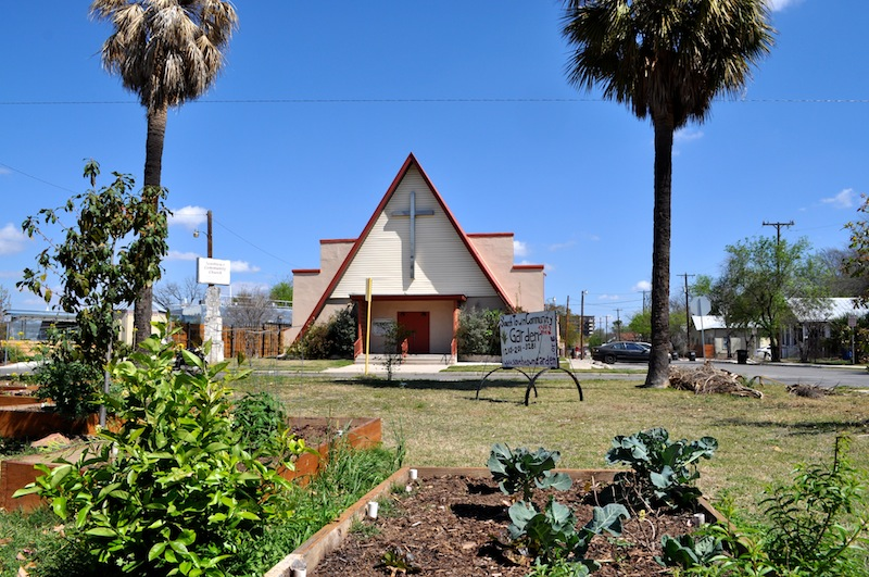 The Southtown Community Garden at 1002 S. Presa St. was officially launched in 2007. Photo by Iris Dimmick.