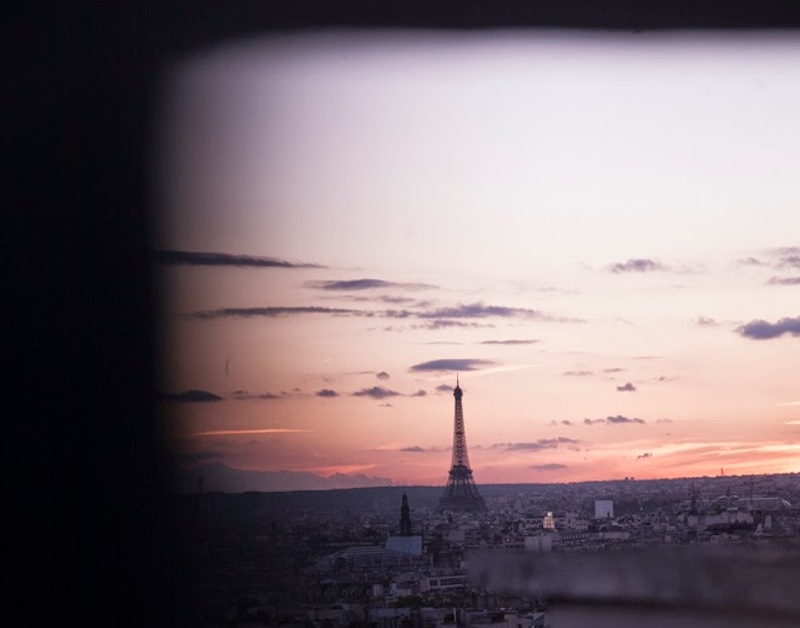 A view of the Eiffel Tower in fall 2014. Photo by Shane Vives Atsara Woodward.