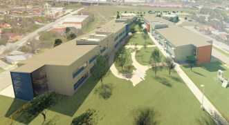 Rendering of KIPP San Antonio's future Cevallos campus. Courtesy image.