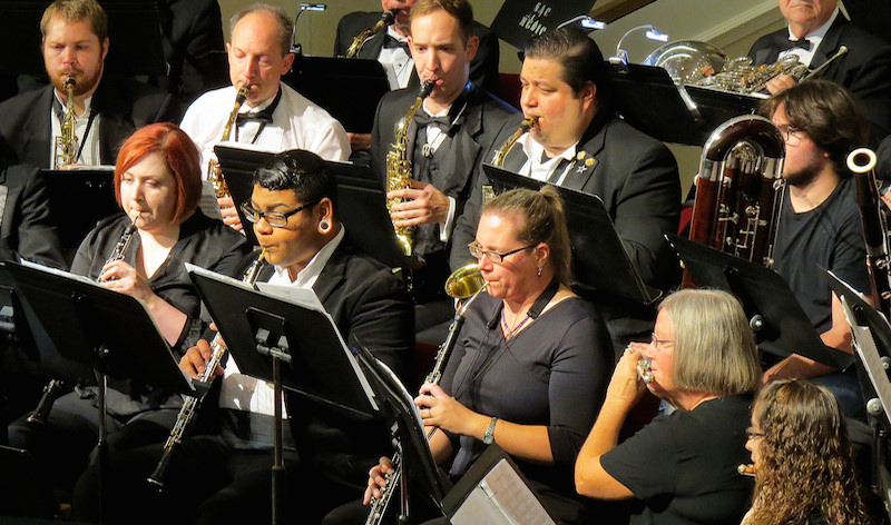 Heart of Texas Concert Band during a recent rehearsal. Photo by Warren Lieberman.