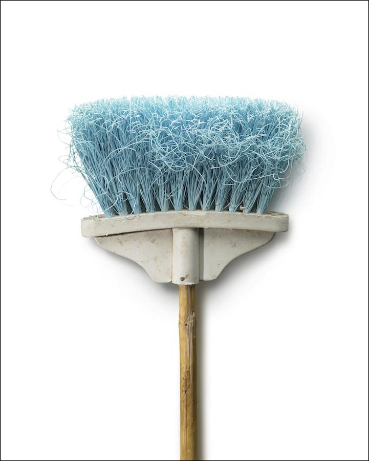 "Chuck Ramirez - Brooms: Light Blue - 3/3 photograph on archival paper, 60 x 48"". Courtesy of Ruiz-Healy Art."