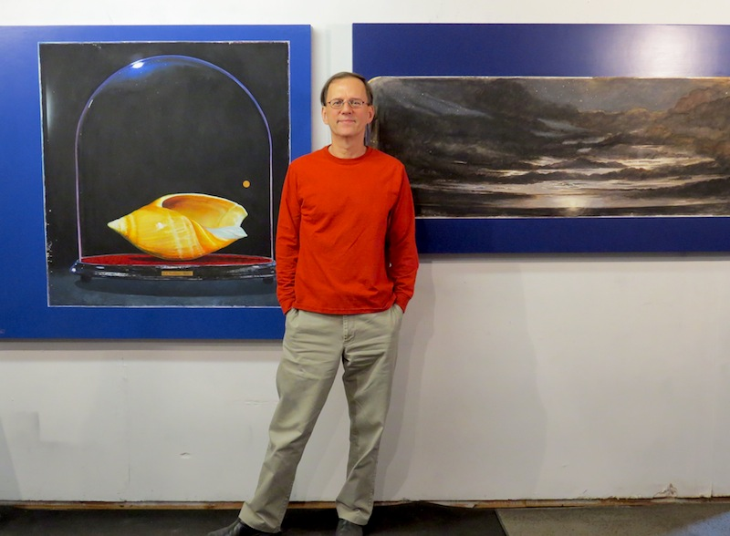 Gary Schafter in the studio. Photo by David S. Rubin.