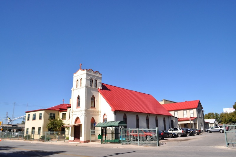 The Healy-Murphy Center campus and church at 618 Live Oak St. Photo by Iris Dimmick.