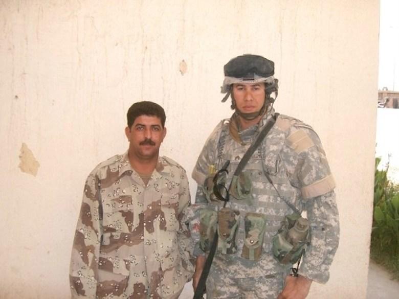 U.S. Army veteran Jon Arnold poses with an Iraqi soldier. Photo courtesy of Jon Arnold.