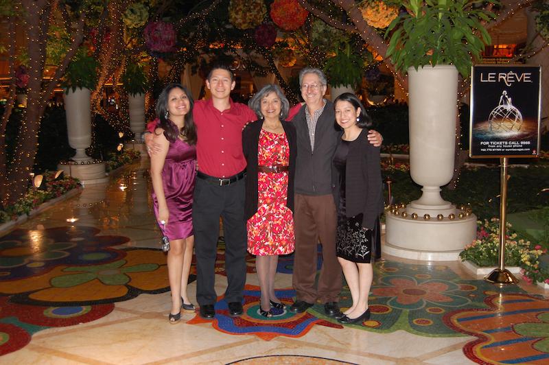Jessica Aguirre (girlfriend) Andrew Murguia, Antonia Murguia (mother), Philip Murguia (father), and Marie Murguia (sister) at the last family vacation in Las Vegas. Photo courtesy of Antonia Murguia.