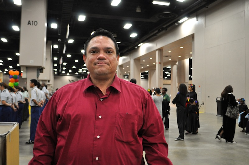 Edward Morales attends the Raul Jimenez Thanksgiving Dinner every year. Photo by Iris Dimmick.