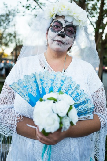 Theresa Hernandez plays a Day of the Dead bride to be. Photo by Scott Ball.