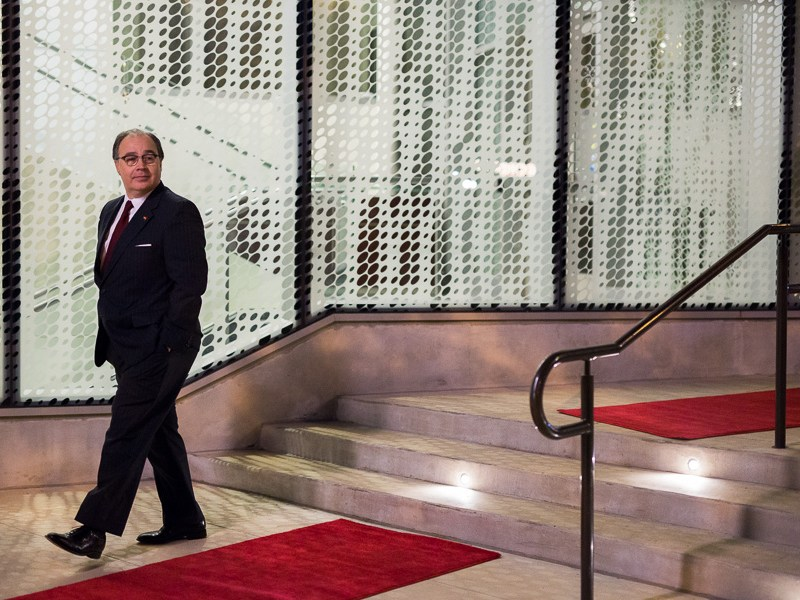 President and CEO of the San Antonio Hispanic Chamber of Commerce Ramiro Cavazos arrives at the Tobin Center. Photo by Scott Ball.