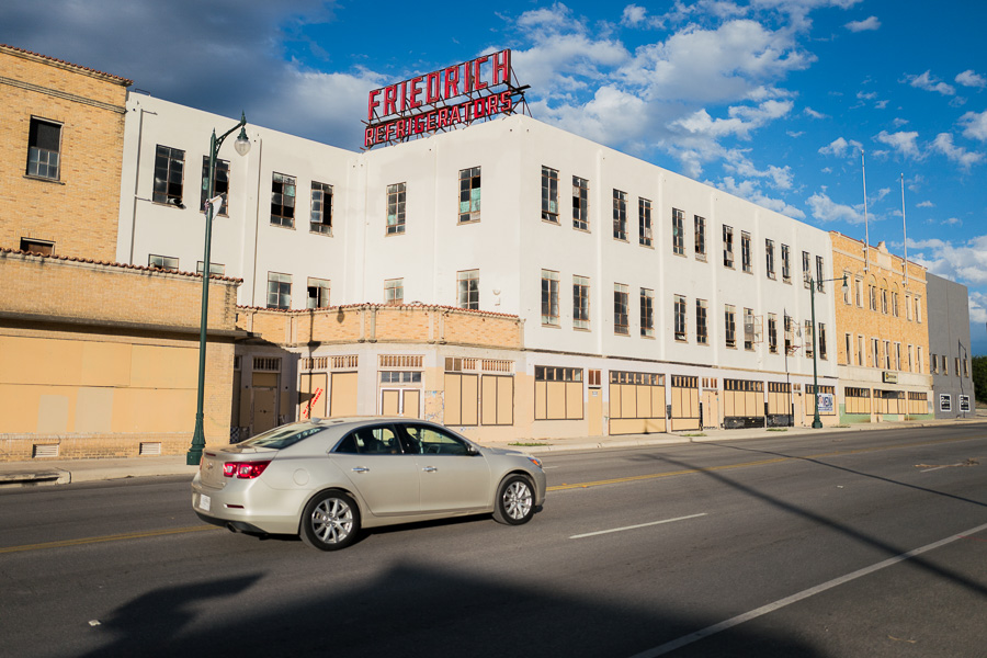 Friedrich Refrigeration building located on East Commerce Street. Photo by Scott Ball.