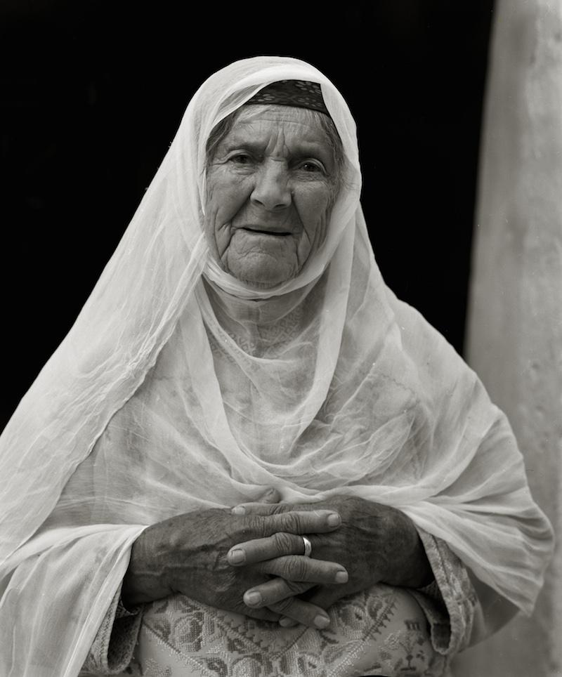 Sitti Khadra, Naomi Shihab Nye's Palestinian grandmother at 95. Photo by Michael Nye.