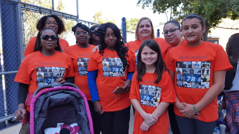 Team Moore during the Out of the Darkness Walk for Suicide Prevention. Photo by Antonia Murguia.