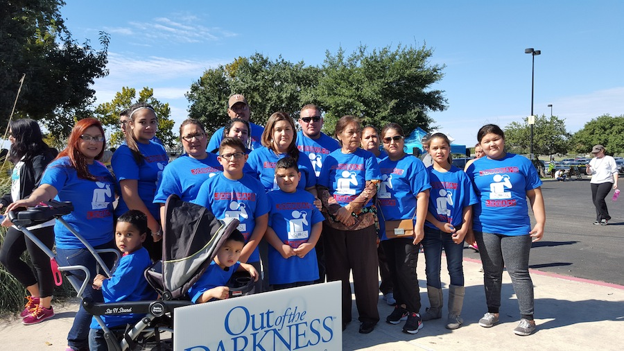 """Team Reyna, """"Joshua's Legacy,"""" during the Out of the Darkness Walk for Suicide Prevention. Photo by Antonia Murguia."""