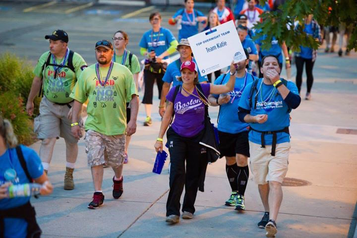 Supporters participate in a previous American Foundation for Suicide Prevention walk. Photo courtesy of AFSP's Facebook page.