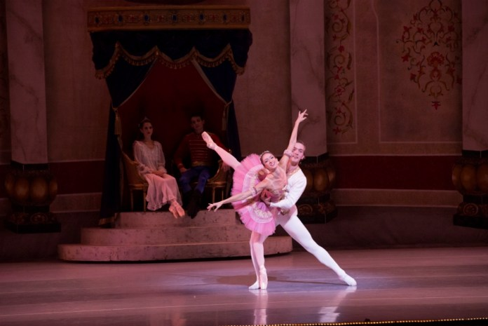 Sally Turkel as the Sugarplum Fairy with her Cavalier Dylan Duke. Photo by Alexander Devora.