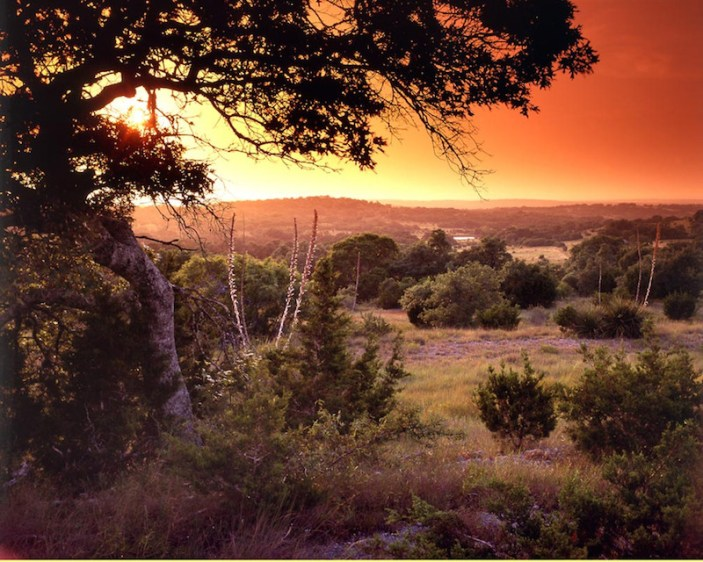 A dramatic sunset in the Texas Hill Country. Photo by Joe Lowery.