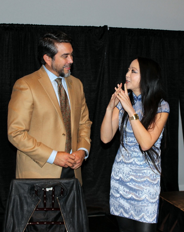 Councilman Treviño and Candy Chang
