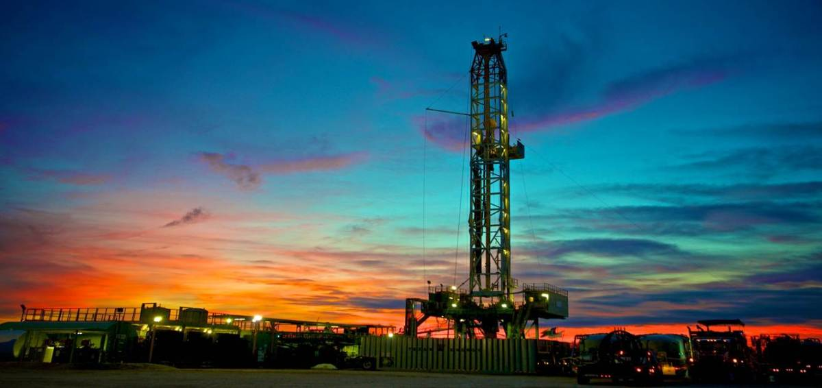 A ConocoPhillips drilling rig in Eagle Ford. Photo courtesy of ConocoPhillips.