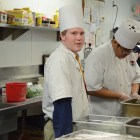 Culinary program graduate Corley Walsh in the Providence Place kitchen on graduation day. Photo by Lea Thompson.