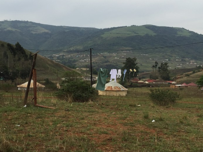 The view of the Ufafa Valley from Thembile's home. Photo by Casey Miller.