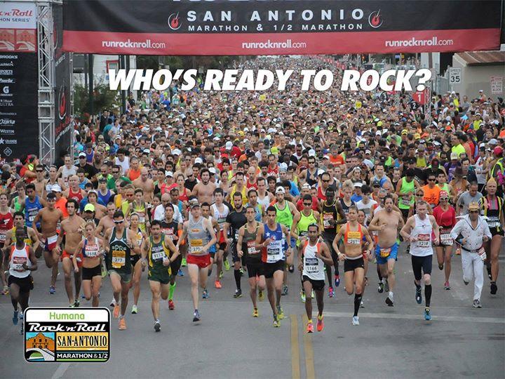 Participants dance and run during the 2014 San Antonio Rock 'n' Roll Marathon .Courtesy Photo.
