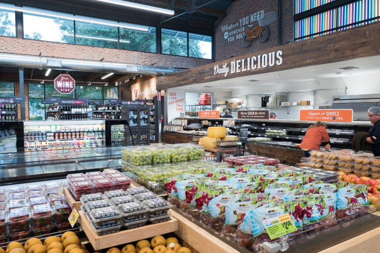 Produce, a deli, and wine are easily accessible upon entry. Photo by Scott Ball.