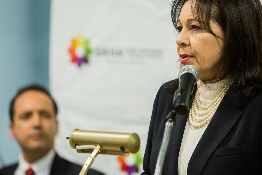 HUD Regional Administrator Tammye Treviño gives remarks. Photo by Scott Ball.