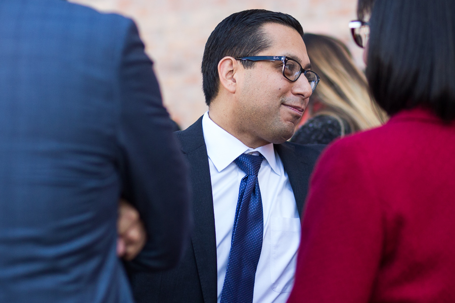 State Representative Diego Bernal (D123) socializes prior to the event. Photo by Scott Ball.