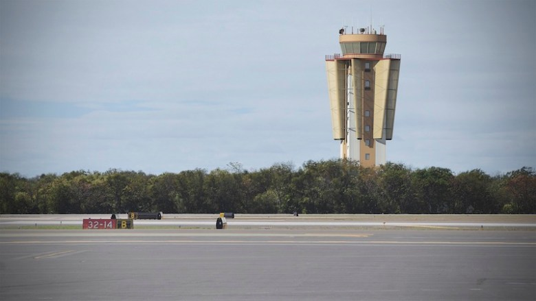 The winning design for Stinson air Filed's new air traffic control tower. Image courtesy of HiWorks + Work5hop