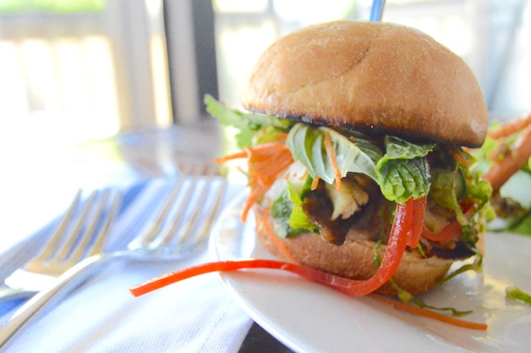 The Confit Chicken Banh Mi Slider at Grayze on Grayson during Restaurant Week. Photo by Lea Thompson.