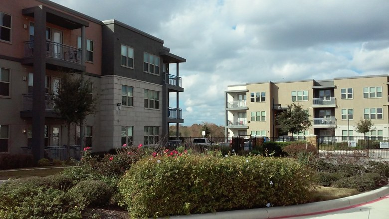 The Landings are the NRP Group's first multi-family community at Brooks City Base. Photo by Edmond Ortiz