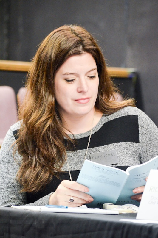 Meredith Alvarez serves as moderator and reads stage directions for Playhouse Potentials. Photo courtesy Andrea Medina.