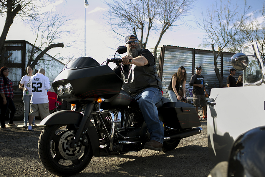 San Antonio Bandidos Motorcycle Club was also at the rally in support of Sister's Bar. Photo by Kathryn Boyd-Batstone