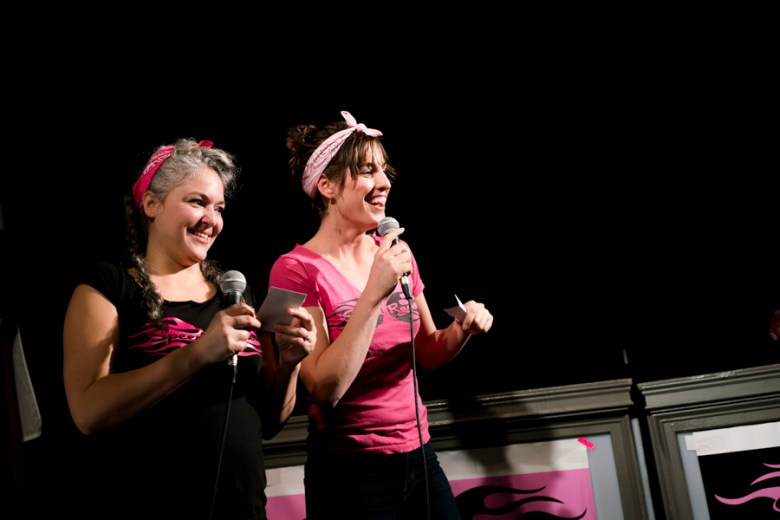 Speed Rack was founded in 2011 by Lynnette Marrero (left) and Ivy Mix (right). Photo by Kathryn Boyd-Batstone