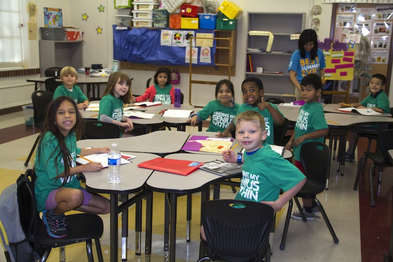 Scholars are hard at work increasing their reading and math skills. Photo courtesy of YMCA of Greater San Antonio.