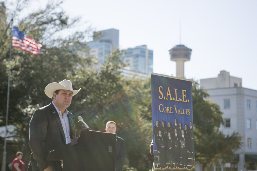 Cody Davenport, President of the San Antonio Stock Show & Rodeo, announced that the Western Heritage Parade & Cattle Drive is scheduled for Saturday, Feb. 6, 2016. Photo by Kathryn Boyd-Batstone