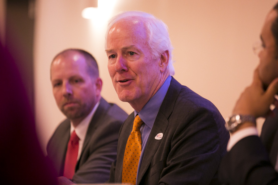 U.S. Senator John Cornyn (R-TX) spoke to the importance of Every Student Succeeds Act, the first significant education overhaul since 2001. Photo by Kathryn Boyd-Batstone