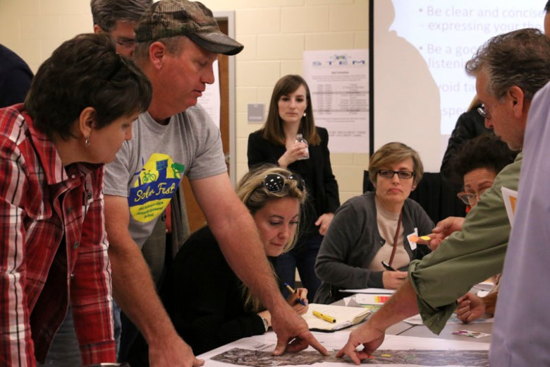 Community members discuss land development and use at the World Heritage Symposium Part 3. Photo by Bria Woods.