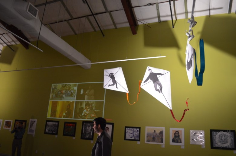 """Papalotes, or kites, hang from the ceiling at SAY Sí in celebration of their initiative """"Project Papalote."""" Photo by Camille Garcia."""