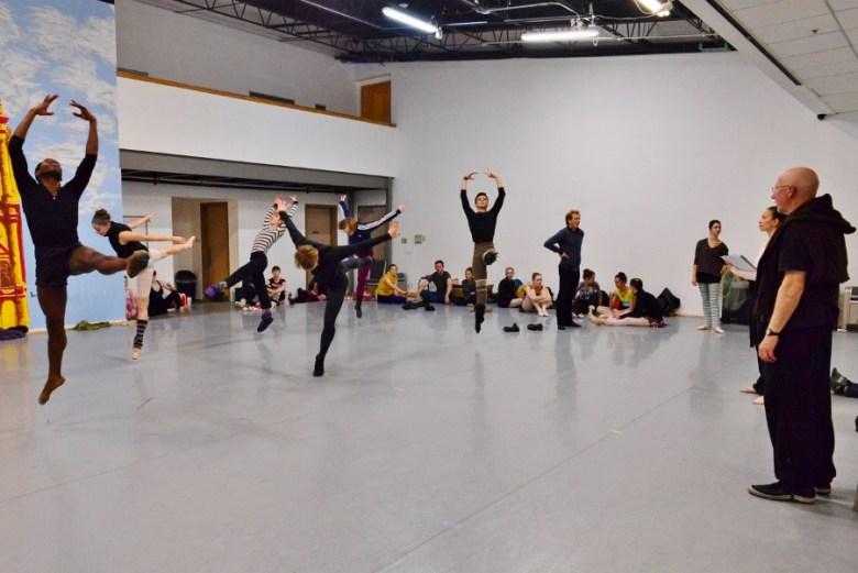 Ballet San Antonio rehearses Peter Pan, February 2016. Photo by Tami Kegley.