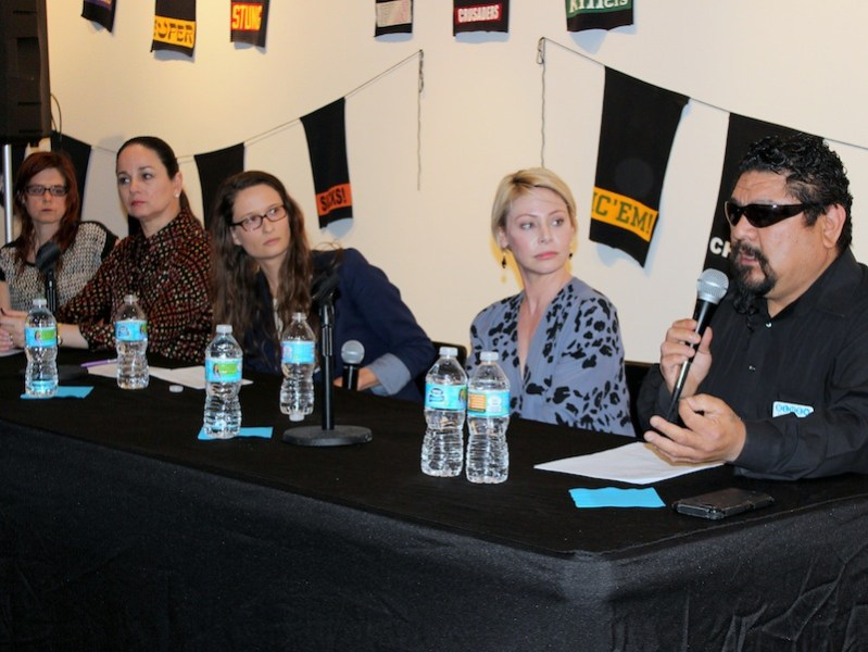 """(From left) The """"How to Collect"""" panel was comprised of Susan Oliver Heard, Patricia Ruiz-Healy, Celeste Wackenhut, Alexa Armstrong, and Alex Rubio. Photo by Iris Gonzalez."""