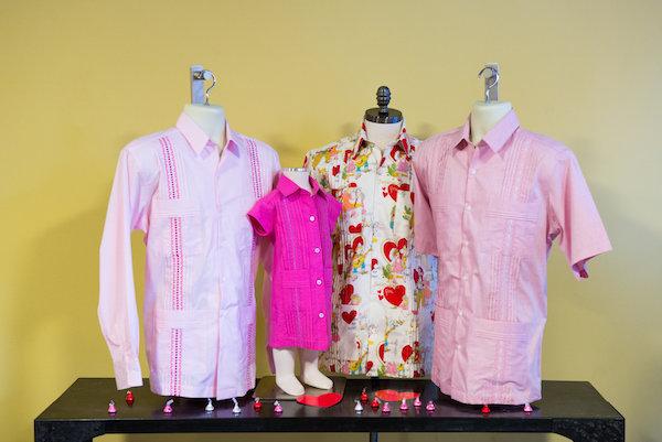 Pink guayaberas from Dos Carolinas. Courtesy Photo.