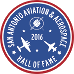 The San Antonio Aviation & Aerospace Hall of Fame logo. Photo Courtesy of the Dee Howard Foundation.