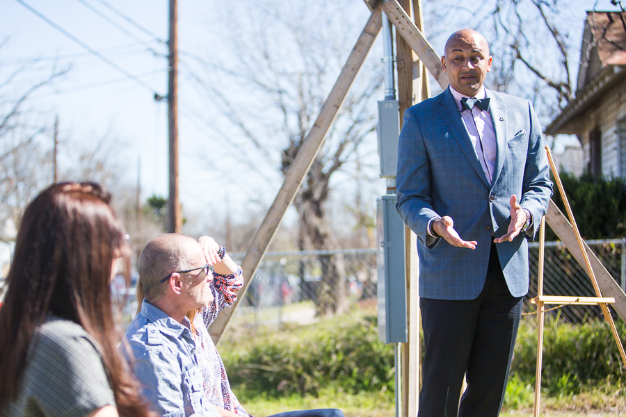 Councilman Alan Warrick (D2) grew up five blocks away from the new Rising Barn home and spoke to the neighborhood's historic character. Photo by Scott Ball.