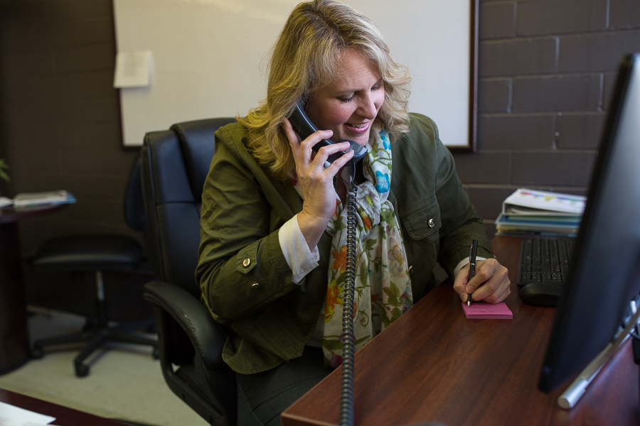 SAISD Senior Executive Director of Curriculum and Instruction Lisa Riggs in her office. Photo by Scott Ball.