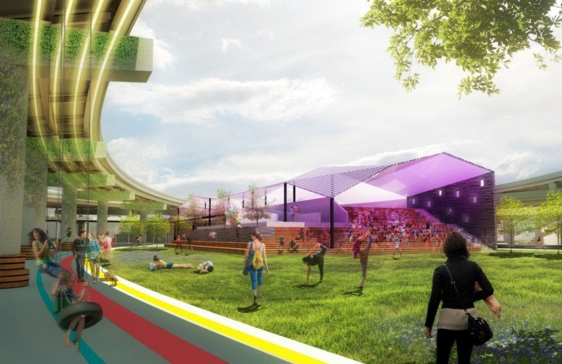"Studio8's design, ""Broadway Pass: An Urban Community Hub,"" won the BYOBroadway's People's Choice Award and received a $2,000 prize."