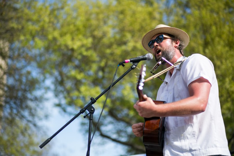 Stephen Brady Dietert of the Ranch\House Band performs his song Magical Day. Photo by Kathryn Boyd-Batstone